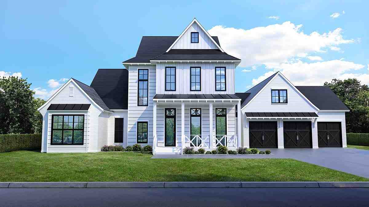 Country, Farmhouse House Plan 40347 with 4 Beds, 5 Baths, 3 Car Garage Picture 1