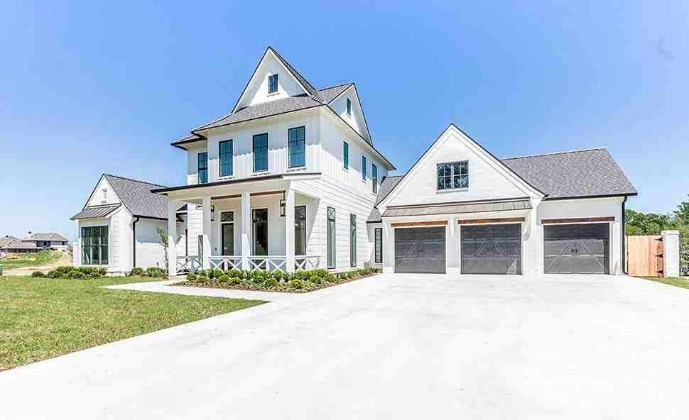 Country, Farmhouse House Plan 40347 with 4 Beds, 5 Baths, 3 Car Garage Picture 2