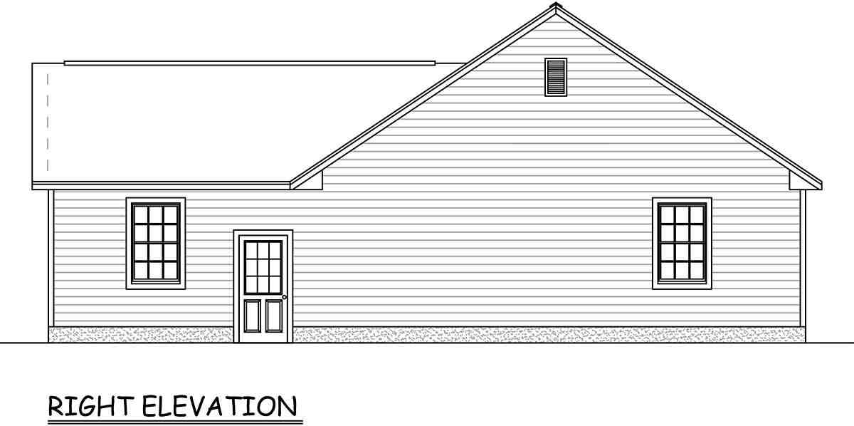 Ranch, Traditional House Plan 40677 with 3 Beds, 2 Baths, 2 Car Garage Picture 1