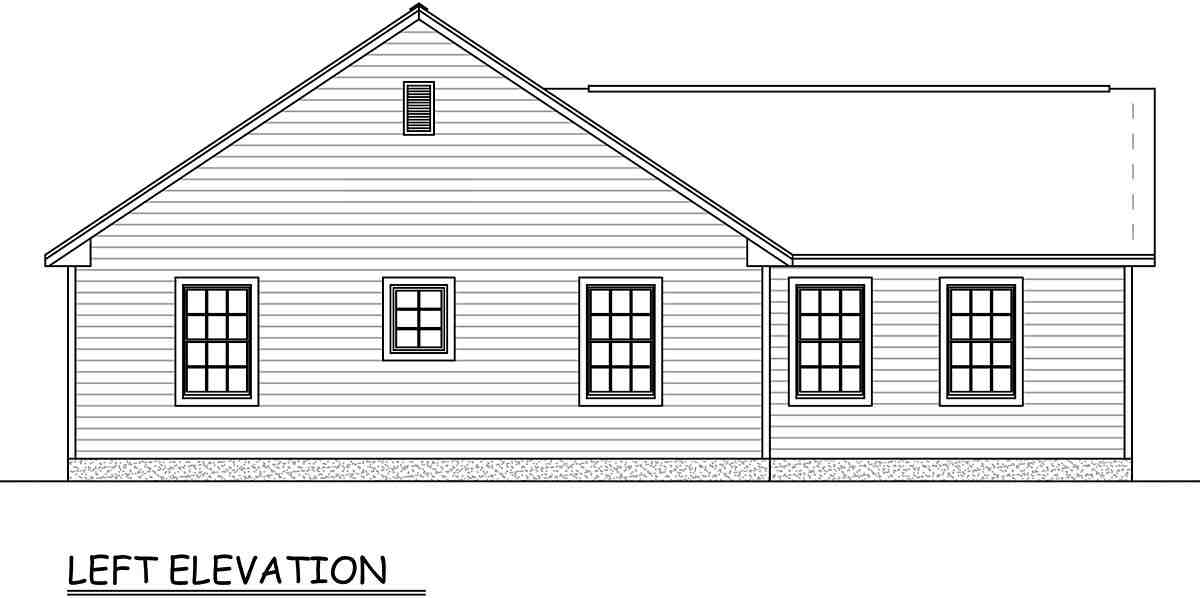 Ranch, Traditional House Plan 40677 with 3 Beds, 2 Baths, 2 Car Garage Picture 2