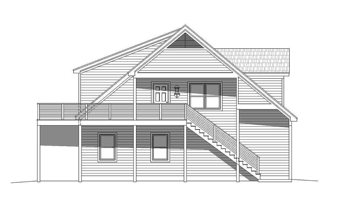 Country, Traditional Garage-Living Plan 40801 with 2 Beds, 3 Baths, 5 Car Garage Picture 2