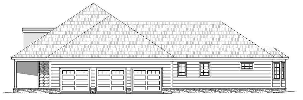 Country, Farmhouse, Ranch, Traditional House Plan 40806 with 4 Beds, 5 Baths, 3 Car Garage Picture 1