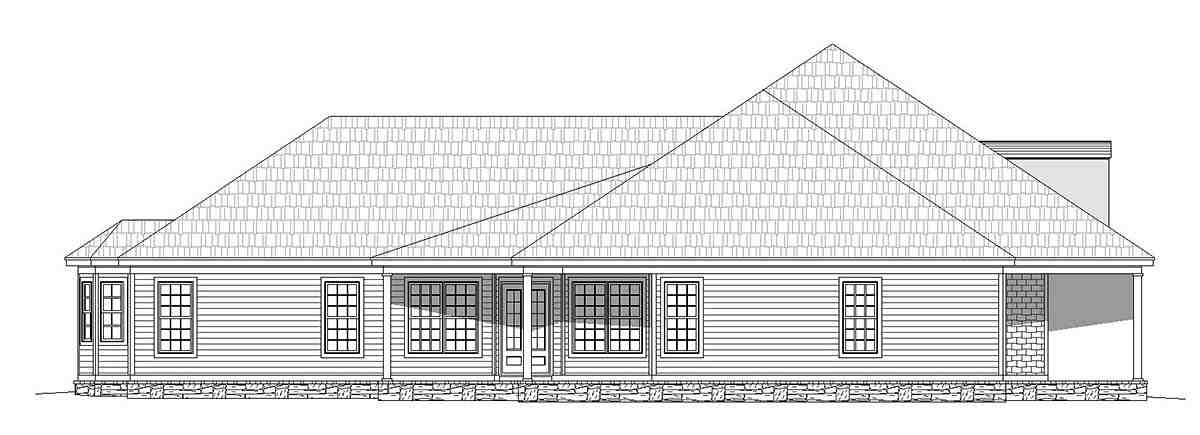 Country, Farmhouse, Ranch, Traditional House Plan 40806 with 4 Beds, 5 Baths, 3 Car Garage Picture 2