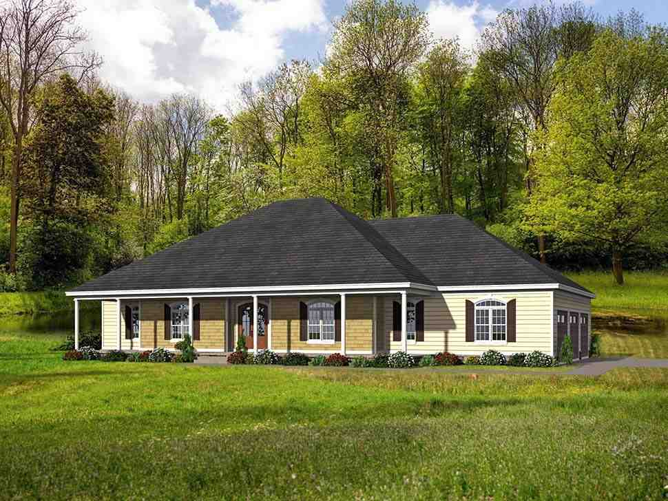 Country, Farmhouse, Ranch, Traditional House Plan 40806 with 4 Beds, 5 Baths, 3 Car Garage Picture 3