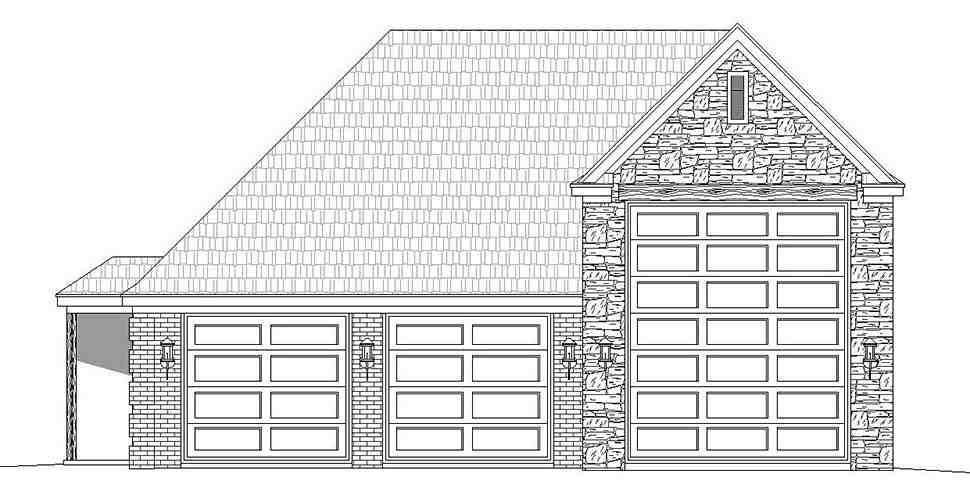 French Country, Traditional 3 Car Garage Plan 40872, RV Storage Picture 3