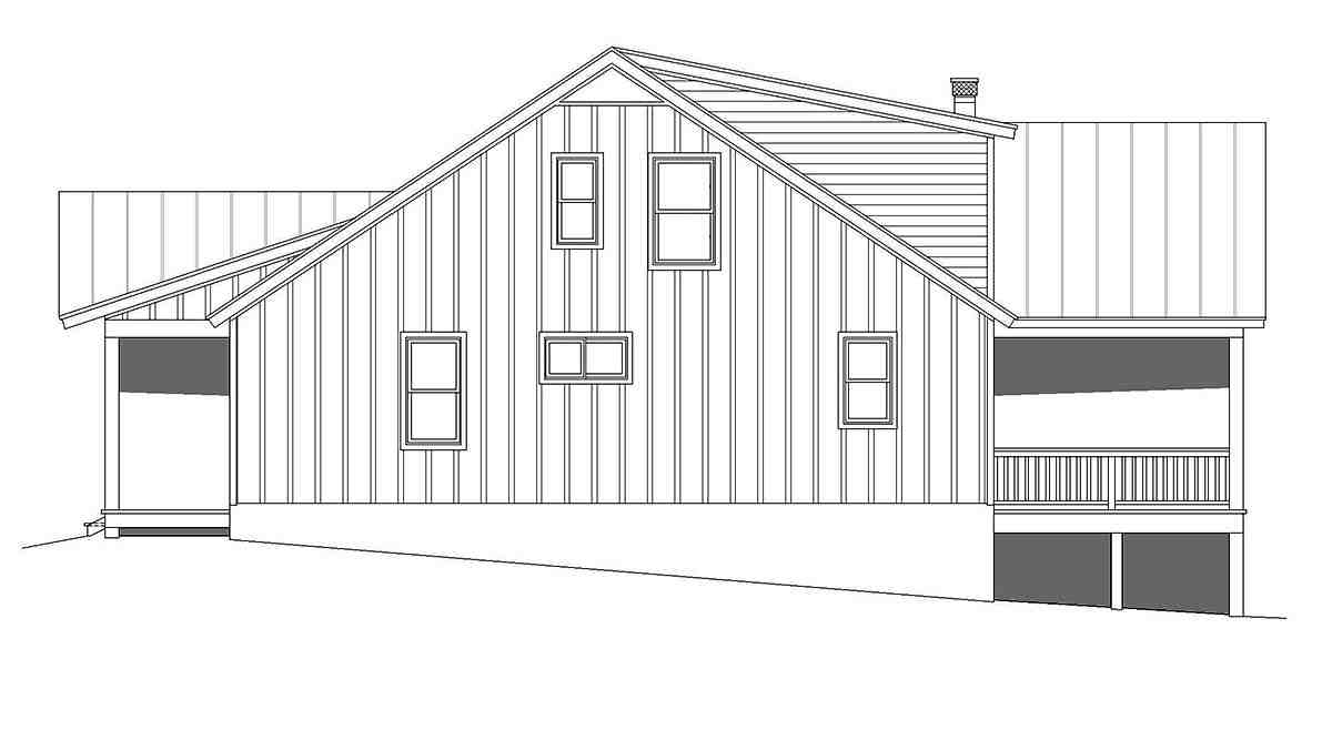 Cabin, Country, Log House Plan 40877 with 3 Beds, 3 Baths Picture 1