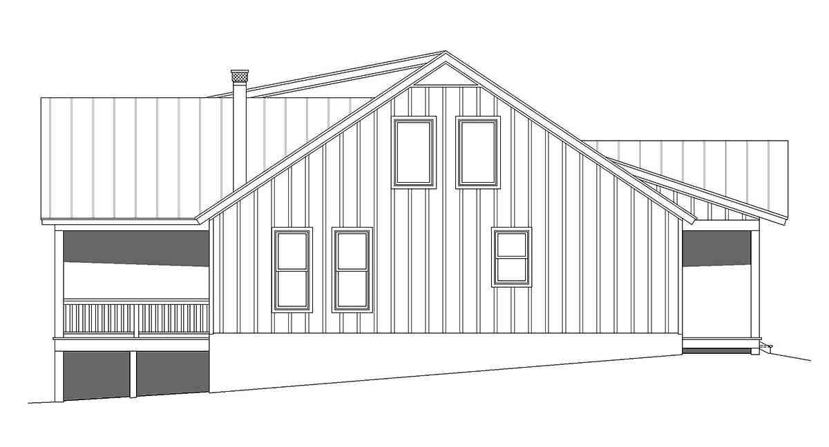 Cabin, Country, Log House Plan 40877 with 3 Beds, 3 Baths Picture 2