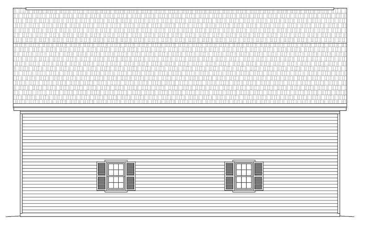 Cottage, Country 4 Car Garage Plan 40884 Picture 2