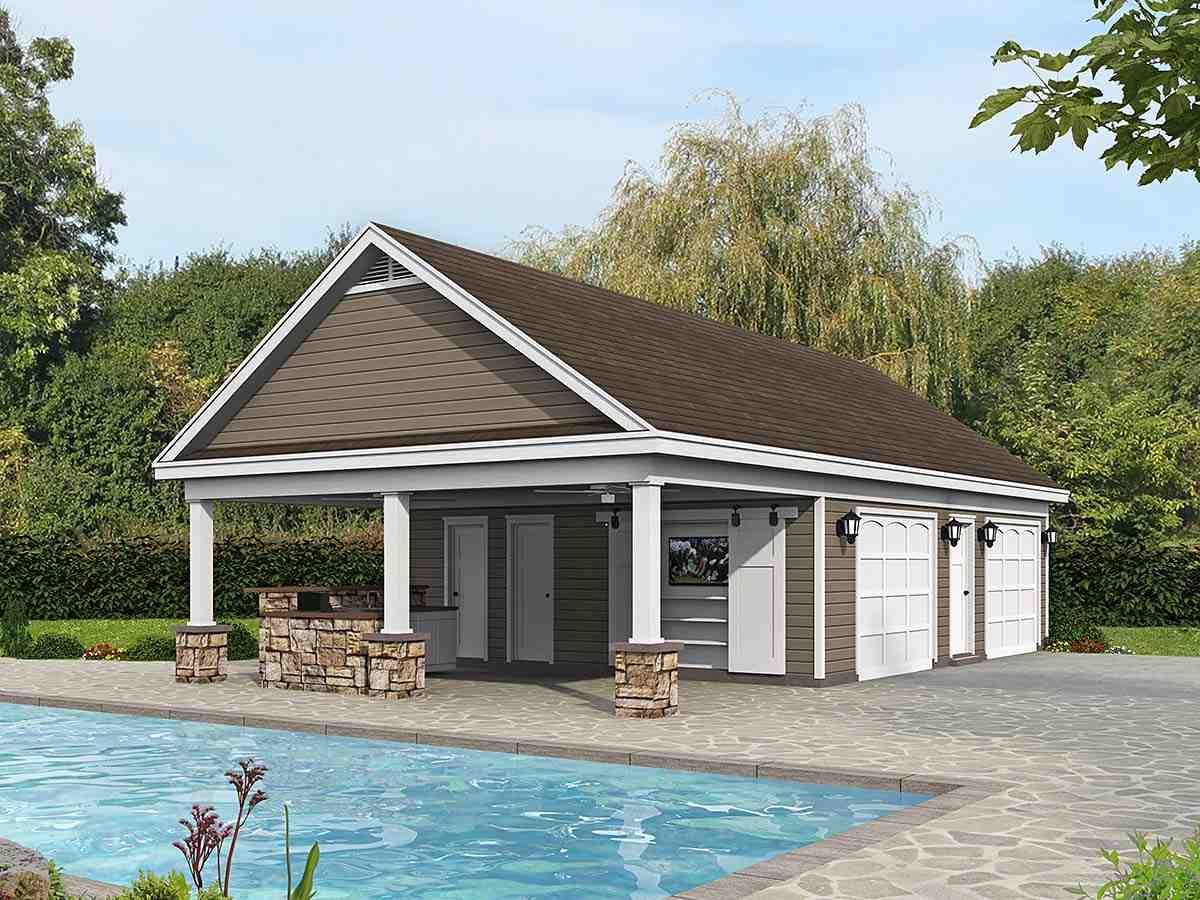 Bungalow, Country, Craftsman, Ranch, Traditional 0 Car Garage Plan 40890 Elevation