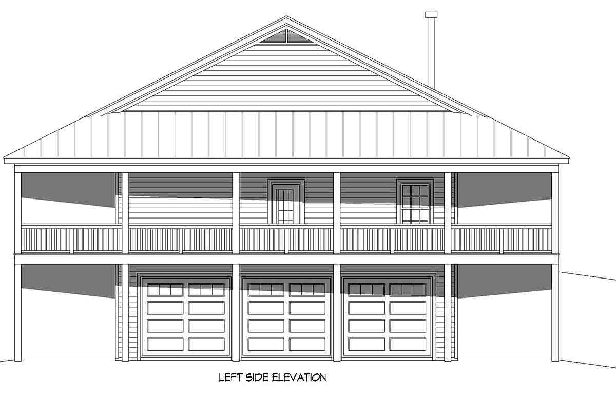 Country, Farmhouse, Ranch, Traditional House Plan 40892 with 4 Beds, 3 Baths, 3 Car Garage Picture 2