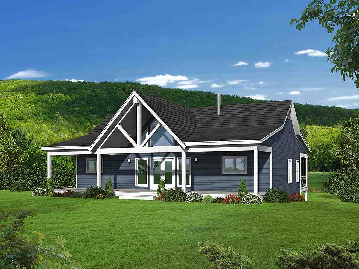 Country, Farmhouse, Ranch, Traditional House Plan 40894 with 4 Beds, 3 Baths, 1 Car Garage Elevation