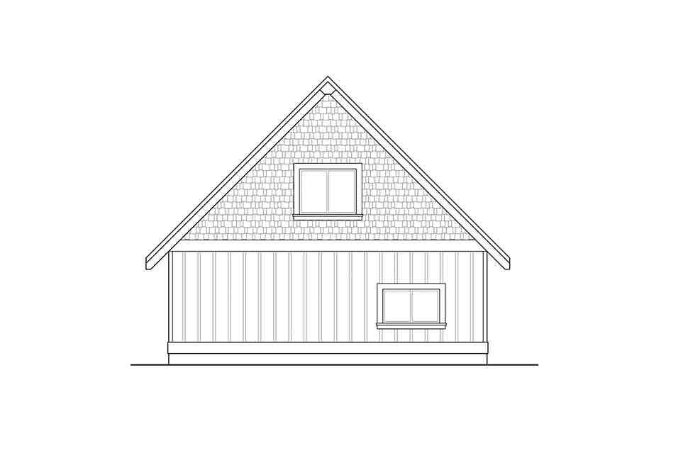 Traditional 2 Car Garage Plan 41313 Rear Elevation