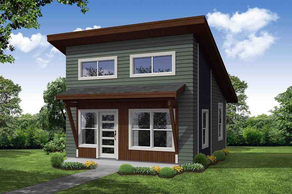Modern House Plan 41392 with 1 Beds, 1 Baths Elevation
