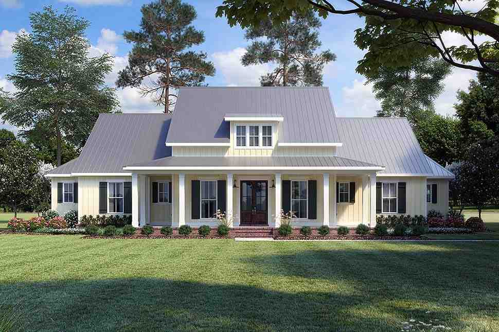 Country, Farmhouse, Traditional House Plan 41400 with 3 Beds, 3 Baths, 2 Car Garage Elevation