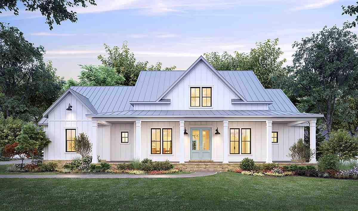 Country, Farmhouse House Plan 41423 with 4 Beds, 3 Baths, 2 Car Garage Elevation