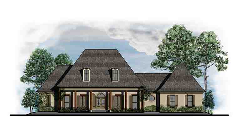 European, French Country, Southern House Plan 41563 with 4 Beds, 4 Baths, 3 Car Garage Elevation