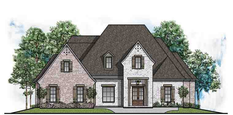 Country, European, Southern House Plan 41633 with 4 Beds, 4 Baths, 3 Car Garage Elevation
