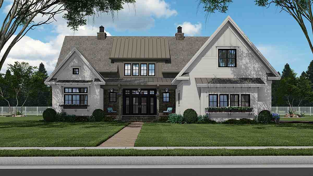 Country House Plan 41900 with 4 Beds, 5 Baths, 2 Car Garage Elevation