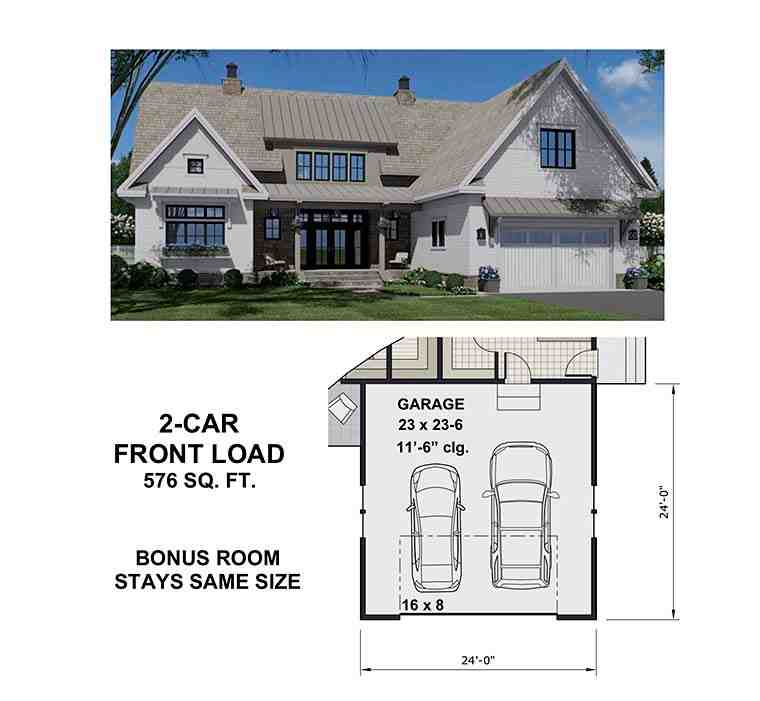 Country House Plan 41900 with 4 Beds, 5 Baths, 2 Car Garage Picture 5