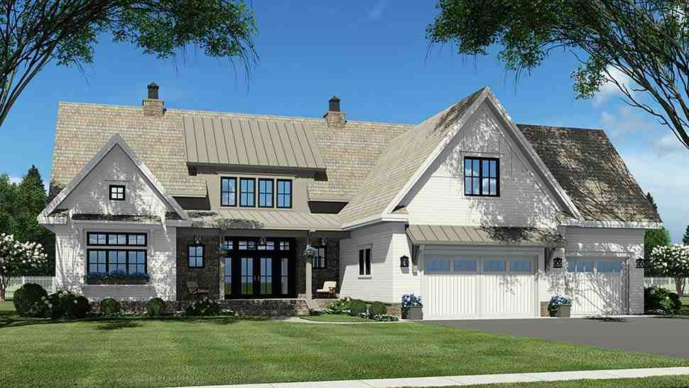 Country House Plan 41900 with 4 Beds, 5 Baths, 2 Car Garage Picture 6