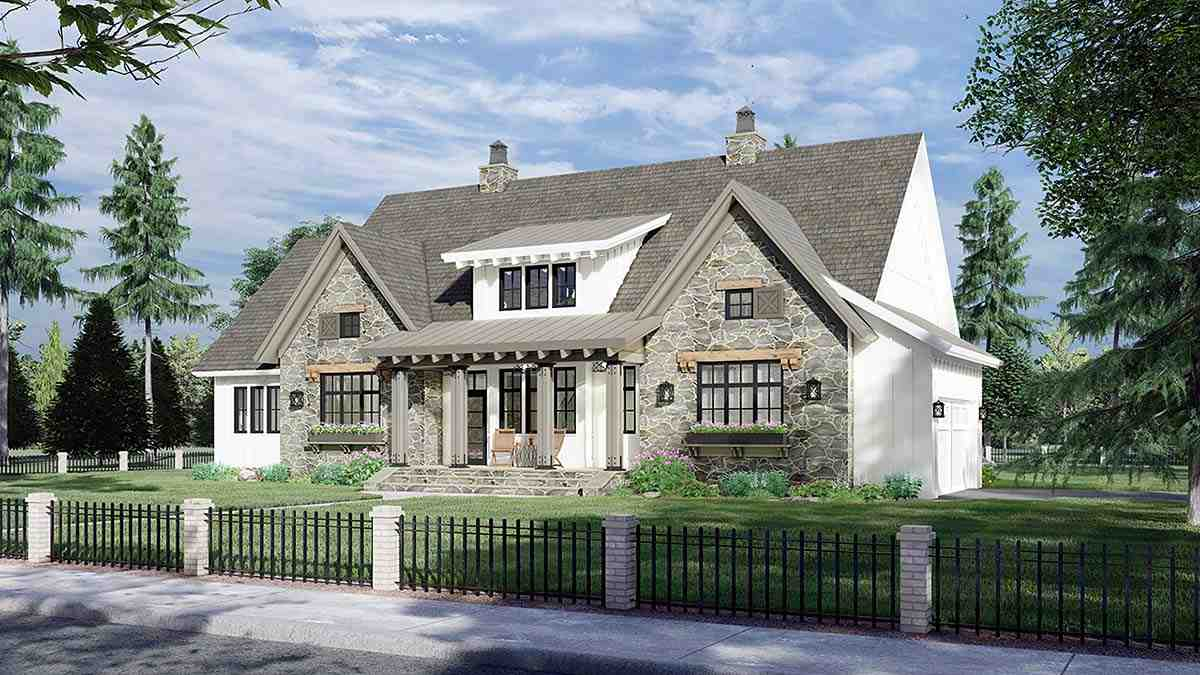 Farmhouse House Plan 41902 with 4 Beds, 4 Baths, 2 Car Garage Picture 1