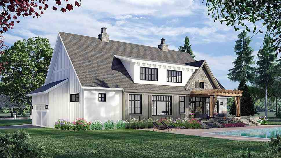 Farmhouse House Plan 41902 with 4 Beds, 4 Baths, 2 Car Garage Picture 3