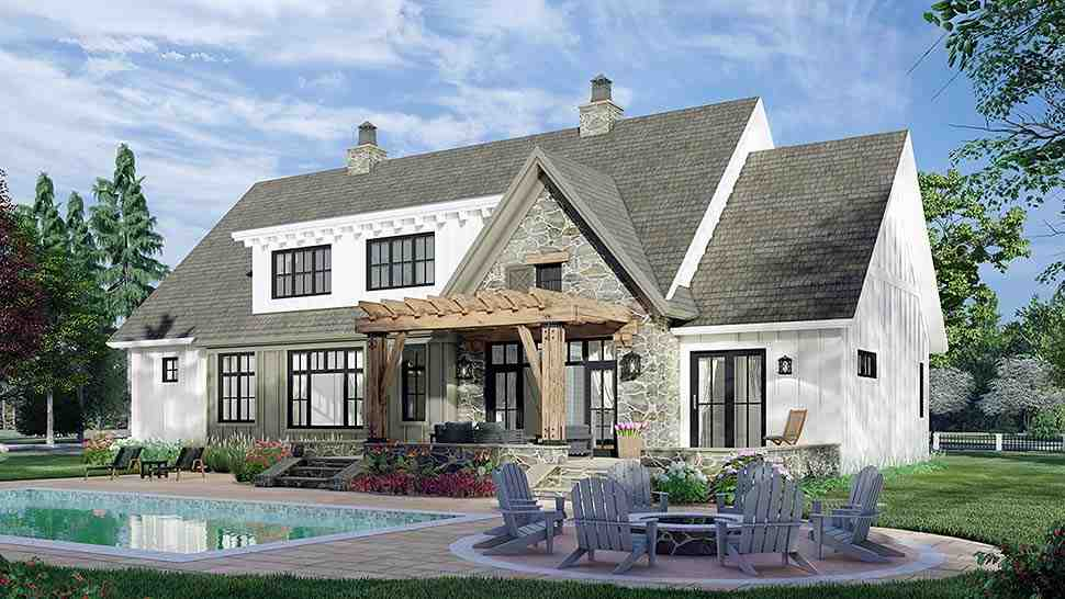 Farmhouse House Plan 41902 with 4 Beds, 4 Baths, 2 Car Garage Picture 4