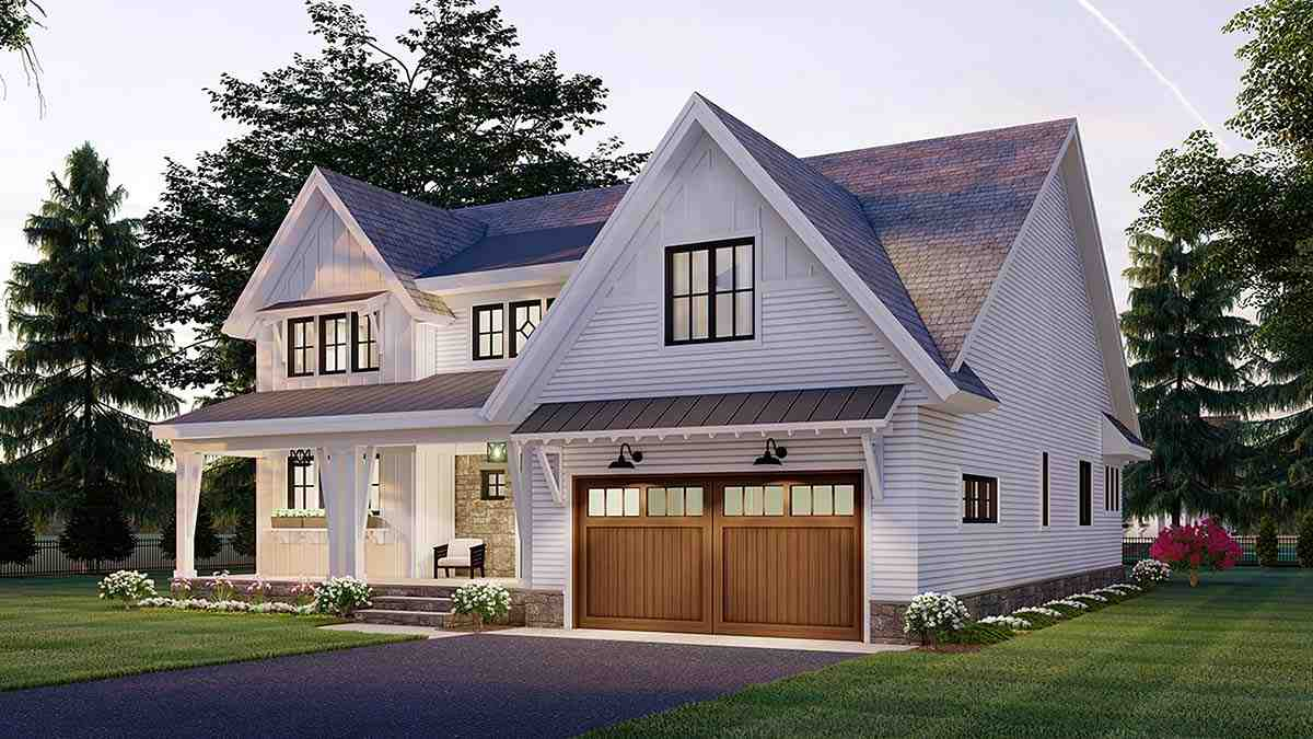 Farmhouse House Plan 41906 with 3 Beds, 3 Baths, 2 Car Garage Picture 1