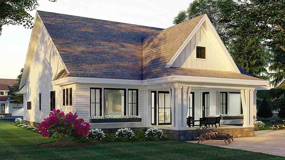 Farmhouse House Plan 41906 with 3 Beds, 3 Baths, 2 Car Garage Picture 3