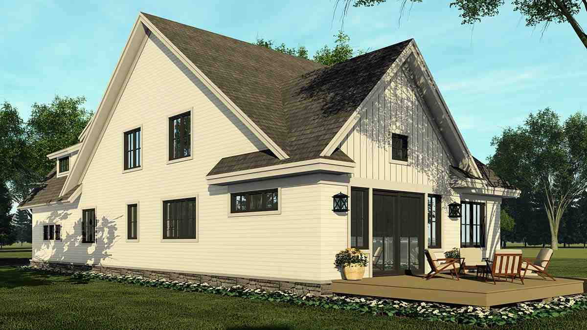 Farmhouse House Plan 41908 with 4 Beds, 3 Baths, 2 Car Garage Picture 1