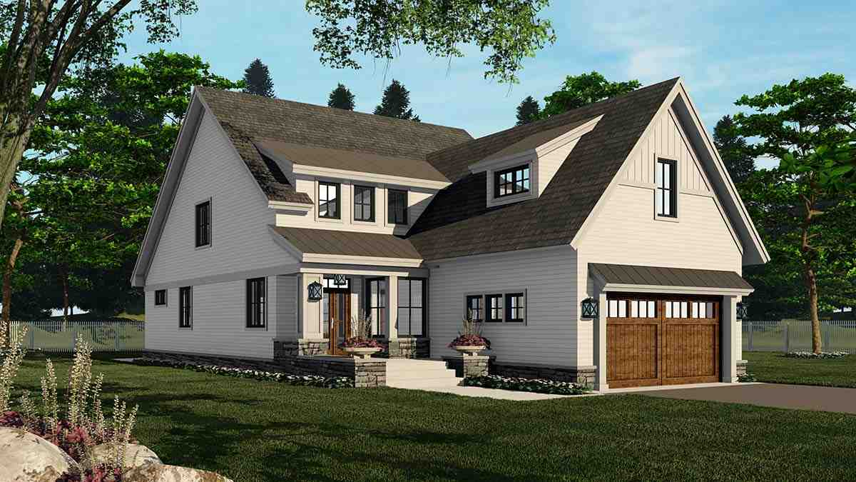 Farmhouse House Plan 41908 with 4 Beds, 3 Baths, 2 Car Garage Picture 2
