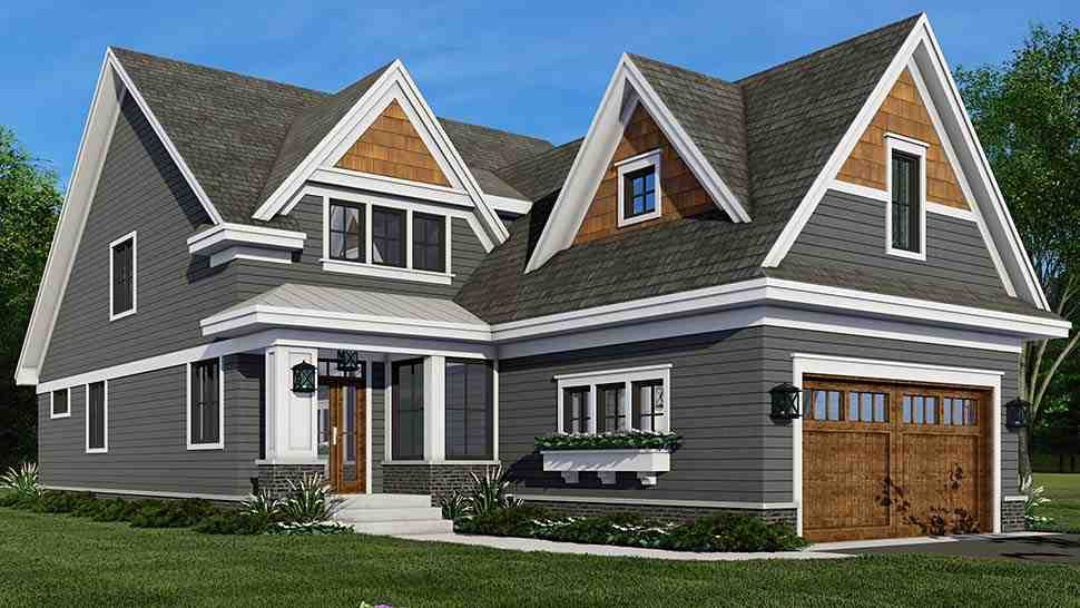 Farmhouse House Plan 41908 with 4 Beds, 3 Baths, 2 Car Garage Picture 3