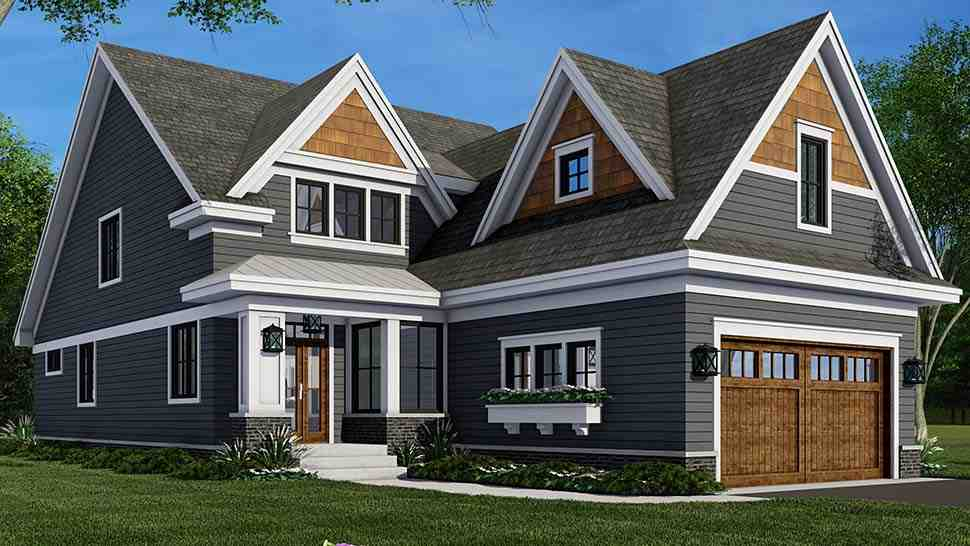 Farmhouse House Plan 41908 with 4 Beds, 3 Baths, 2 Car Garage Picture 4
