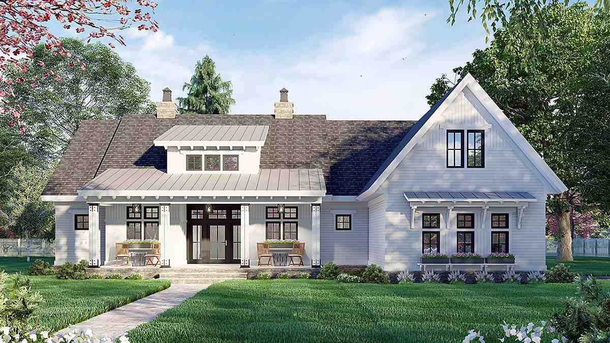 Country House Plan 41911 with 3 Beds, 3 Baths, 2 Car Garage Elevation
