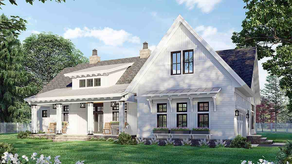 Country House Plan 41911 with 3 Beds, 3 Baths, 2 Car Garage Picture 1