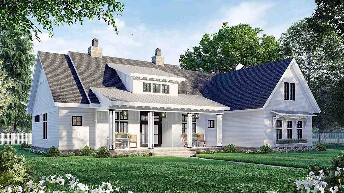 Country House Plan 41911 with 3 Beds, 3 Baths, 2 Car Garage Picture 2