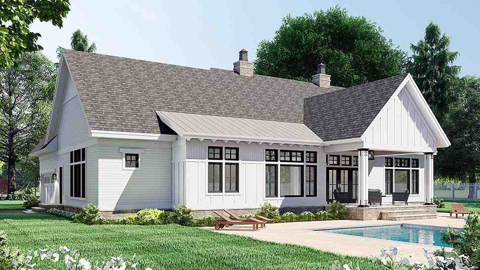 Country House Plan 41911 with 3 Beds, 3 Baths, 2 Car Garage Picture 3