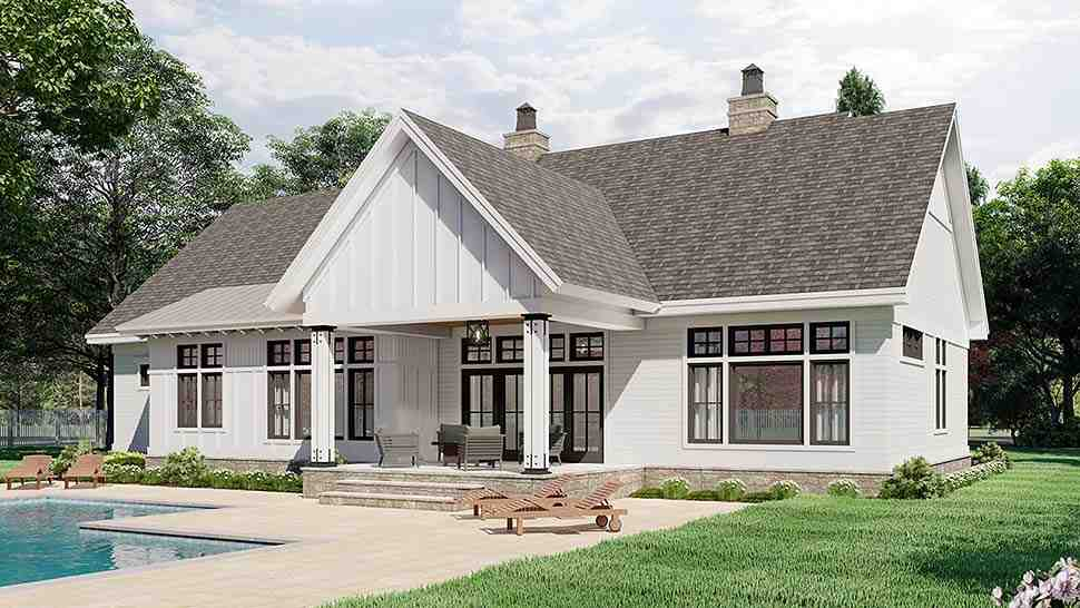 Country House Plan 41911 with 3 Beds, 3 Baths, 2 Car Garage Picture 4
