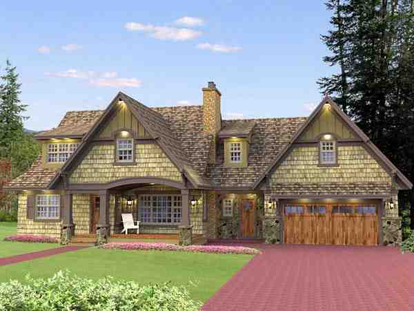 Cottage, Craftsman, French Country House Plan 42646 with 5 Beds, 4 Baths, 2 Car Garage Picture 1