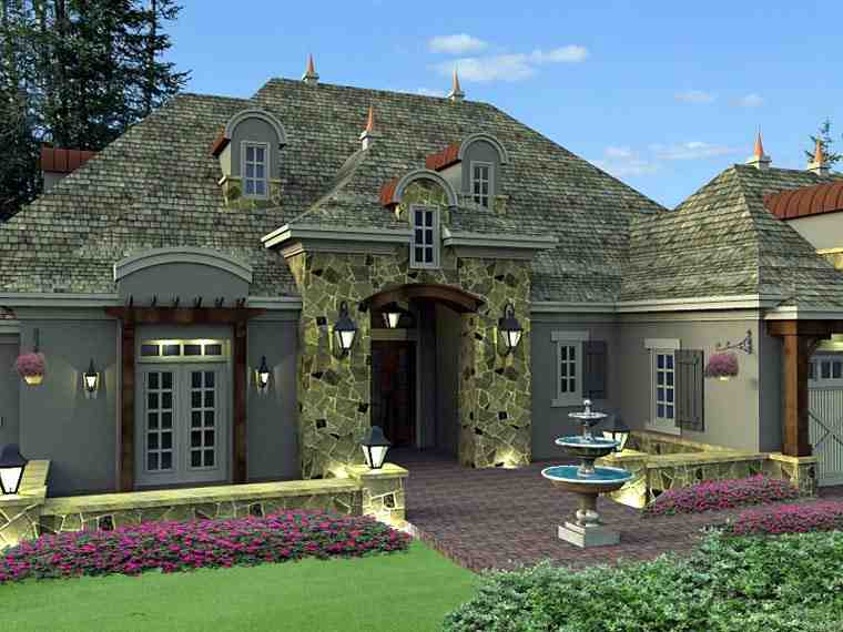 House Plan 42649 with 4 Beds, 4 Baths, 3 Car Garage Picture 1