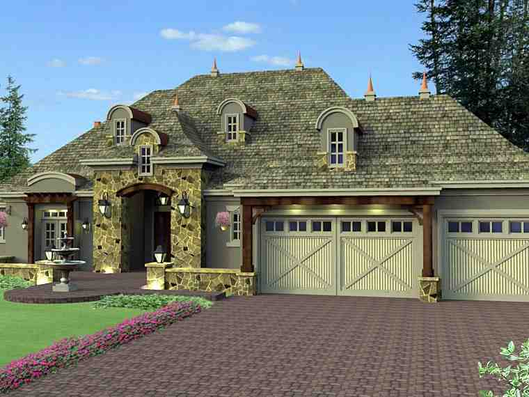 House Plan 42649 with 4 Beds, 4 Baths, 3 Car Garage Picture 2