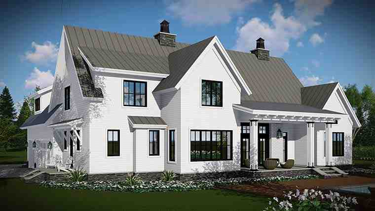 Country, Farmhouse, Traditional House Plan 42683 with 4 Beds, 3 Baths, 3 Car Garage Picture 2