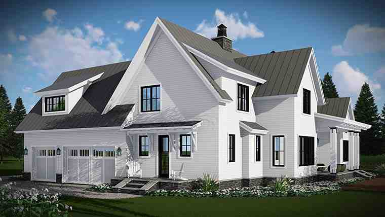 Country, Farmhouse, Traditional House Plan 42683 with 4 Beds, 3 Baths, 3 Car Garage Picture 3