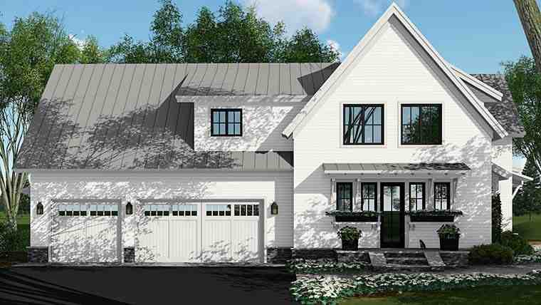 Country, Farmhouse, Southern, Traditional House Plan 42687 with 4 Beds, 5 Baths, 3 Car Garage Picture 2