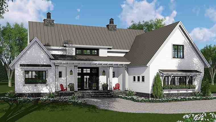 Country, Farmhouse, Southern, Traditional House Plan 42688 with 3 Beds, 3 Baths, 2 Car Garage Elevation