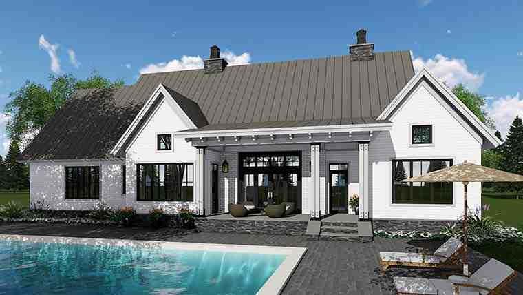 Country, Farmhouse, Southern, Traditional House Plan 42688 with 3 Beds, 3 Baths, 2 Car Garage Picture 4