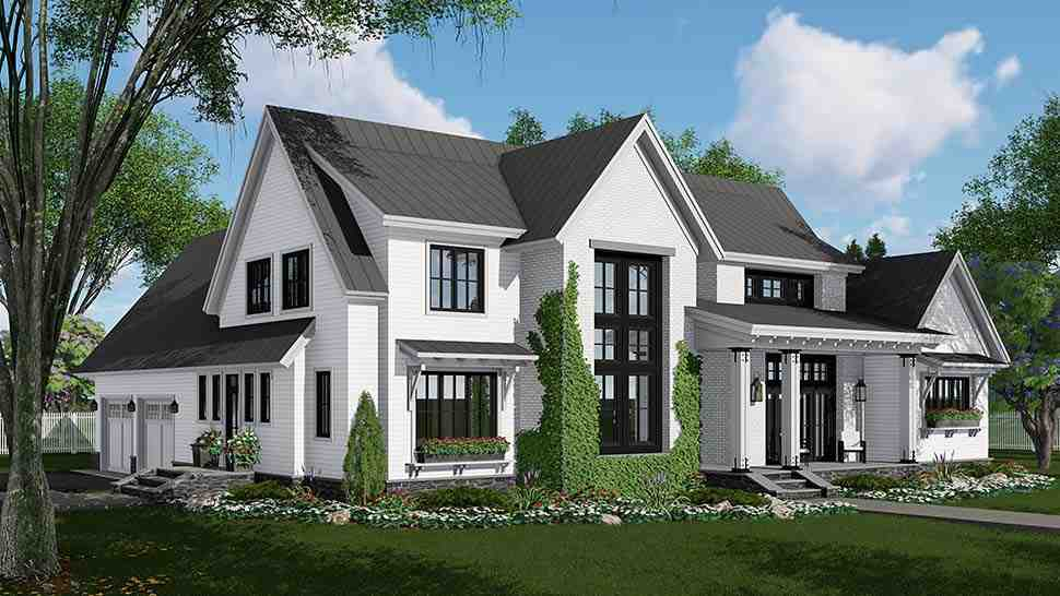 Country, Farmhouse, Traditional House Plan 42690 with 4 Beds, 3 Baths, 2 Car Garage Picture 1