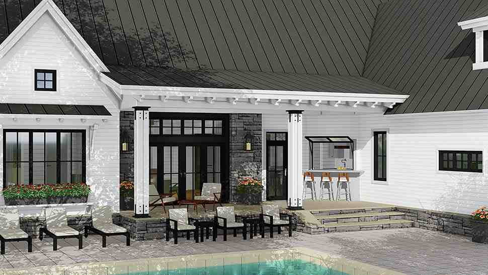 Country, Farmhouse, Traditional House Plan 42691 with 3 Beds, 3 Baths, 2 Car Garage Picture 3