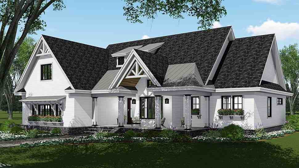 Bungalow, Country, Craftsman, Farmhouse, Traditional House Plan 42694 with 4 Beds, 4 Baths, 2 Car Garage Picture 1