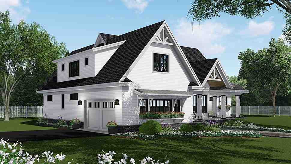 Bungalow, Country, Craftsman, Farmhouse, Traditional House Plan 42694 with 4 Beds, 4 Baths, 2 Car Garage Picture 2
